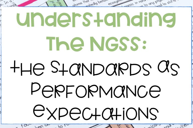 Next Generation Science Standards As Performance Expectations