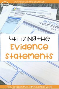 utilizing the NGSS evidence statements