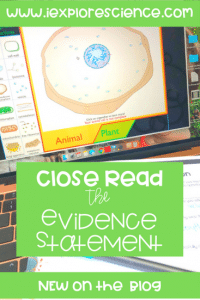 Using evidence statements to help student develop skills and understanding.