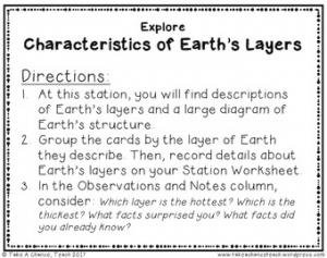 Read characteristics of Earth's layers and sort them into the appropriate category to learn about Earth's interior structure in the 5E Explore science activity.